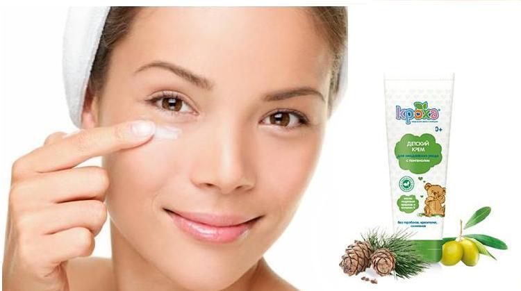 Детский крем для взрослой кожи лица