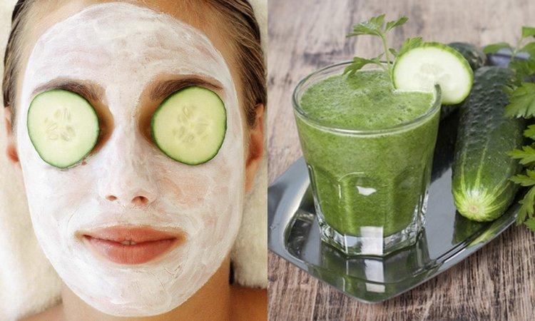 Огуречные маски для кожи вокруг глаз